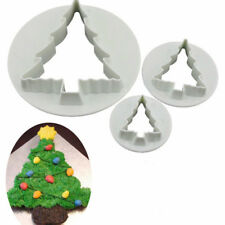 3X Christmas Tree Shape Mold Sugar Arts Set Fondant Cake Tools/Cookie Cutters FO
