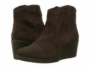 Crocs Women's Leigh Suede Wedge Espresso Brown Bootie-Size 7/9/10 NWB 203418-206