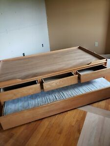 Twin Trundle Bed With Drawers and Mattress Included