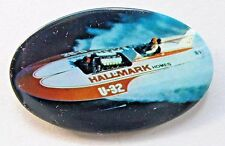 1971 HALLMARK HOMES U-32 pinback button Hydroplane Boat racing z