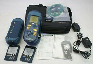 Wavetek LT8000 100 MHz Cable Tester w/ Bag, Batteries & Cable