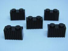 Lego 2877 @@ Brick,Modified 1 x 2 Gitter - Schwarz X 5 - 4547 4558 4708 4959
