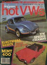 DUNE BUGGIES & HOT VW'S 1985 AUG - GODFREY DRAG GHIA, '52 SUNROOF, FRENCHING
