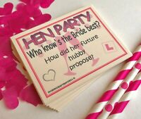 Hen Party Games How Well Do You Know The Bride Quiz Cards Drinking Games Hen Do