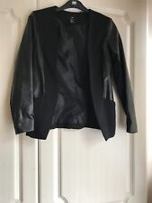 Black Leather H&M Blazer in Size XS- Good condition! Worn once.