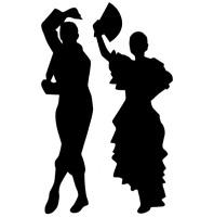 Flamenco-Dancers-Car-Van-Pick Up-Truck-Camper-Wall-Door-Art-Vinyl-Decal-Sticker