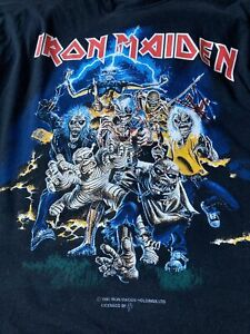 Vintage 90s Iron Maiden Best Of The Beast Band Tour T Shirt - XL