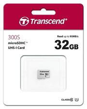Transcend 32GB MicroSDHC 300s Class 10 UHS-1 Memory for Transcend Dash Cam