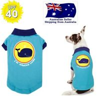 Dog Polo T Shirt Sun Protection 40+  Blue Whale XS S M L- Chihuahua Puppy Pet