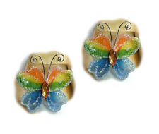 Embellishments - Rainbow Butterfly BN1830, 3.5 x 2.5cm approx, pack of 2