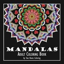 Two Hoots Mandala Adult Coloring Book, 92Pg Stress Relief 45Pic Calming High-Res