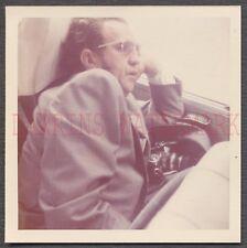 Unusual Vintage Color Photo Man Sleeping w/ Snapshot Camera 670793