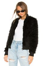 NWT Chaser Faux Fur Lamby Bomber Jacket in Black size Medium
