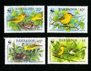 Barbados Stamps # 795-8 VF WWF OG NH