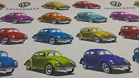 Ashley Wilde Bug VW Beetle Licensed Curtain Craft Upholstery Designer Fabric