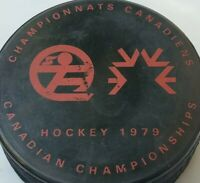 1979 CANADIAN CHAMPIONSHIP HOCKEY PUCK OFFICIAL MADE IN CZECHOSLOVAKIA