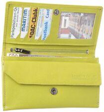 flache LEDER Geldtasche CITY apfel grün Geldbörse Geldbeutel Portemonnaie kiwi