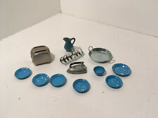 Vintage Dollhouse Miniatures Lot of 12 Metal Kitchen Accessories #21