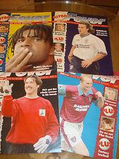 Full Set Daily Mirror Football Fever Magazines parts 1-4 1997-98