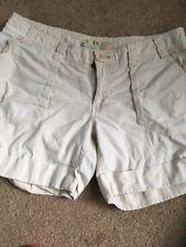 Women's Roxy Size 9 Chino Shorts Lace Trim Pockets Cream Cotton L468359