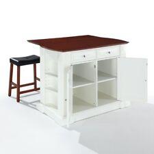 Merveilleux Crosley Furniture KF30007WH Drop Leaf Breakfast Bar Top Kitchen Island In  White Finish