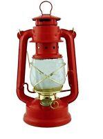 RED hurricane 10 in lamp light oil lantern hanging kerosene rustic CMP 1226 gold
