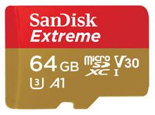 Sandisk Extreme Sdxc MicroSD de 64 GB A1 V30 U3 4K 100MB/s 4K Full HD + Adaptador