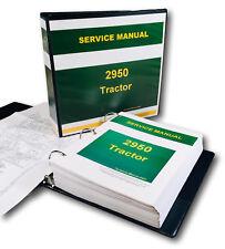 Service Manual For John Deere 2950 Tractor Repair Technical Shop Book 844pgs!