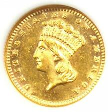 1889 Indian Dollar Gold Coin (G$1) - Uncirculated Details (UNC MS) - Rare Coin!