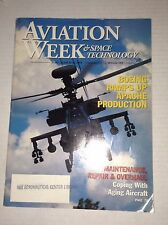 Aviation Week Magazine Boeing Ramps Up Apache March 30, 1998 FAL 111716RH