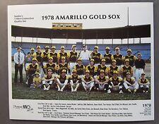 1978 AMARILLO GOLD SOX Team Photo. full color. minor league baseball