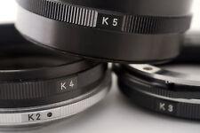 Nikon K2, K3, K4 and K5 Extension Tubes in Leather Case