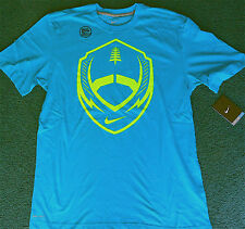 NWT Mens Nike XL Dri-Fit Turquoise/Neon Yellow FOOTBALL Shirt XL