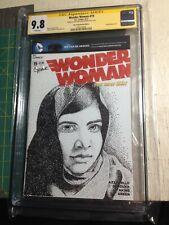 Malala Yousafzai - CGC SS 9.8 WONDER WOMAN #19 Sketch Cover Art CHRIS THORNE
