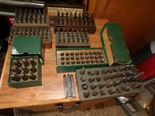 Lot Of 7 Sets Of Vintage Punch Stamp Steel Letters Amp Numbers Machine Shop Tools