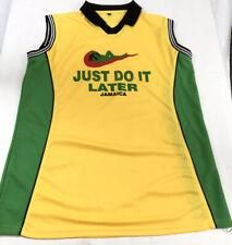 """Just Do it Later"" Jersey Sleeveless 2XL Jamaica Pirates  Black VGC"