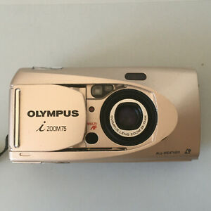 Olympus i Zoom 75 APS All Weather Compact Point & Shoot Film Camera - Faulty LCD