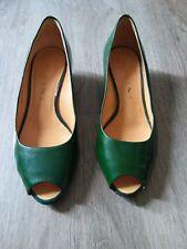 Scarpe vintage pelle verdi