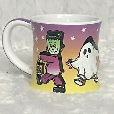 Halloween Costume Frankenstein Ghost Witch Characters Coffee Tea Cup Mug