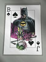 BATMAN THREE JOKERS COMIC PROMO PLAYING CARD BATMAN/JOKER- DC