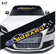 SUBARU-IMPREZA-Car-Window-Windshield-Matte-Black-Banner-Decal-Sticker-DIY