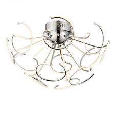 SANDY 12 LIGHT LED SEMI FLUSH CHROME RRP £299 OUR PRICE CLEARANCE OFFER £160.00