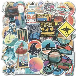 100 SUMMER Surf Stickers bomb Vinyl Skateboard Luggage Surfboard Dope Decals Lot