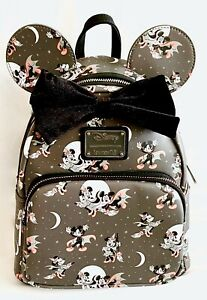 Disney Loungefly Halloween Vampire Witch Mini Backpack Mickey Minnie Mouse Bag