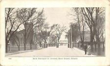 Rock Island Illinois~Victorian Lady & Gent~Entrance to Arsenal~Bridge~Gate~1907