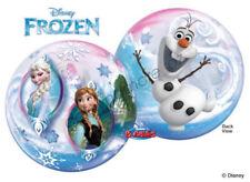 Disney Frozen Themed Party Supplies Qualatex Bubbles Balloon 56cm Anna Elsa Olaf