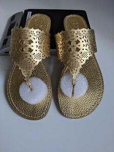 Tory Burch Roselle Metallic Thong Sandal Size 8M Color  Gold
