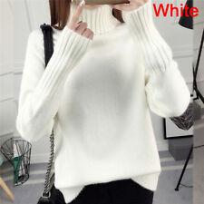 Warm Turtleneck Sweater Women's Jumper Sweaters Pullovers Knitted Swea Dl