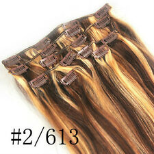 "USA Stock 16""18""20""22""24""26""30"" 7Pcs Clip In 100% Real Remy Human Hair Extension"