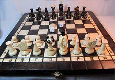 Schach, Schachspiel + Dame + Backgammon Schachbrett 35 x 35 cm aus Holz